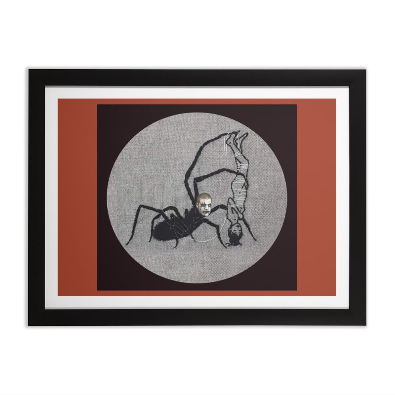 spider fred Home Framed Fine Art Print by FredRx's Artist Shop