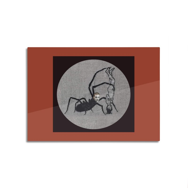 spider fred Home Mounted Aluminum Print by FredRx's Artist Shop