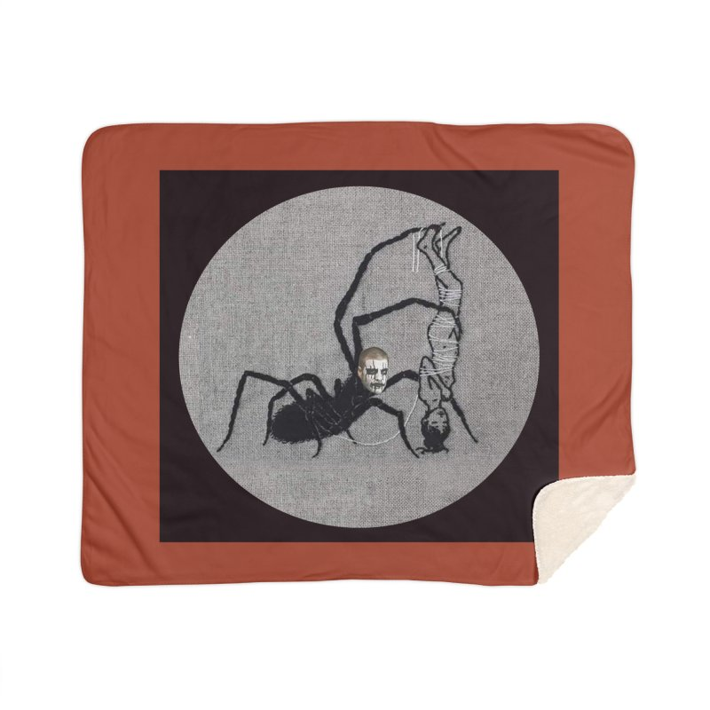 spider fred Home Sherpa Blanket Blanket by FredRx's Artist Shop