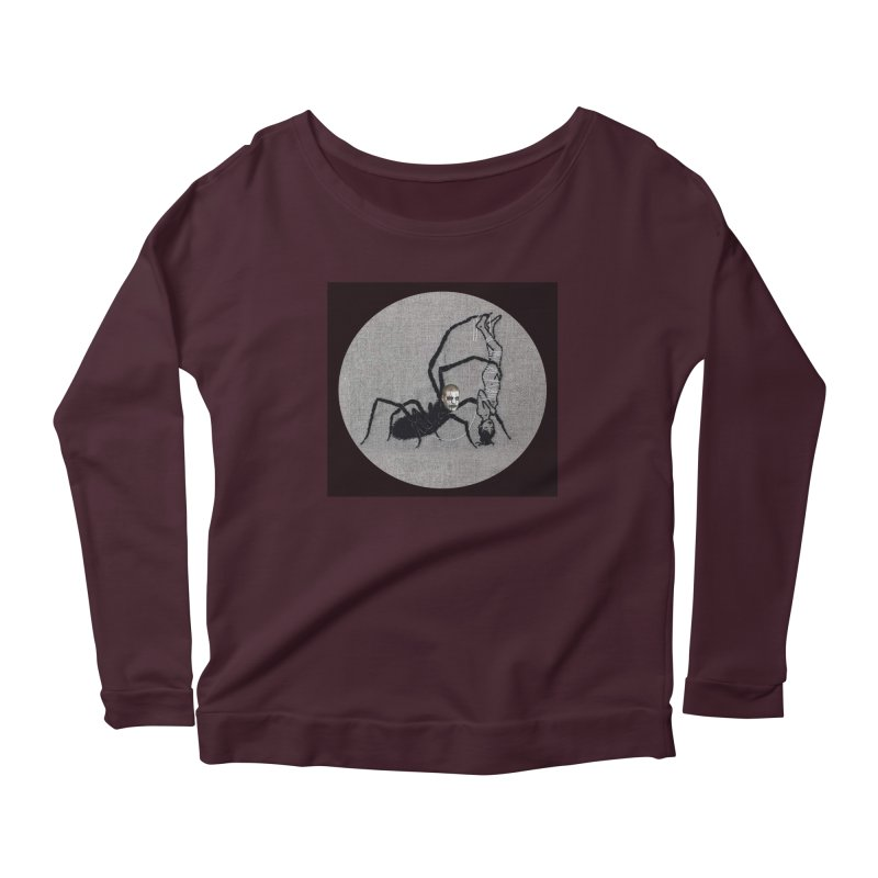 spider fred Women's Scoop Neck Longsleeve T-Shirt by FredRx's Artist Shop