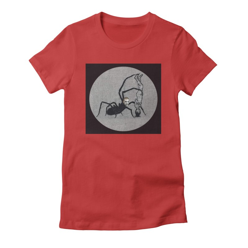 spider fred Women's Fitted T-Shirt by FredRx's Artist Shop
