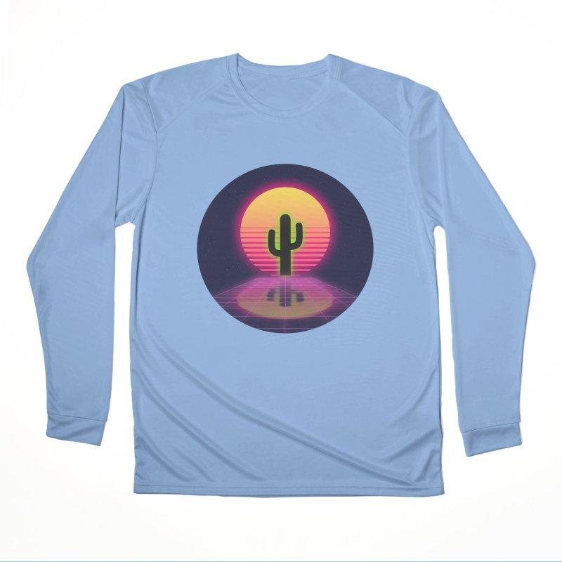 vaporwave cactus Women's Longsleeve T-Shirt by FredRx's Artist Shop