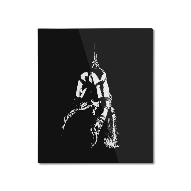 kinbaku crab suspension Home Mounted Aluminum Print by FredRx's Artist Shop