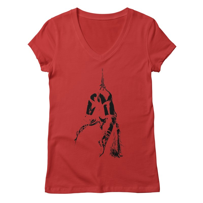 kinbaku crab suspension Women's Regular V-Neck by FredRx's Artist Shop