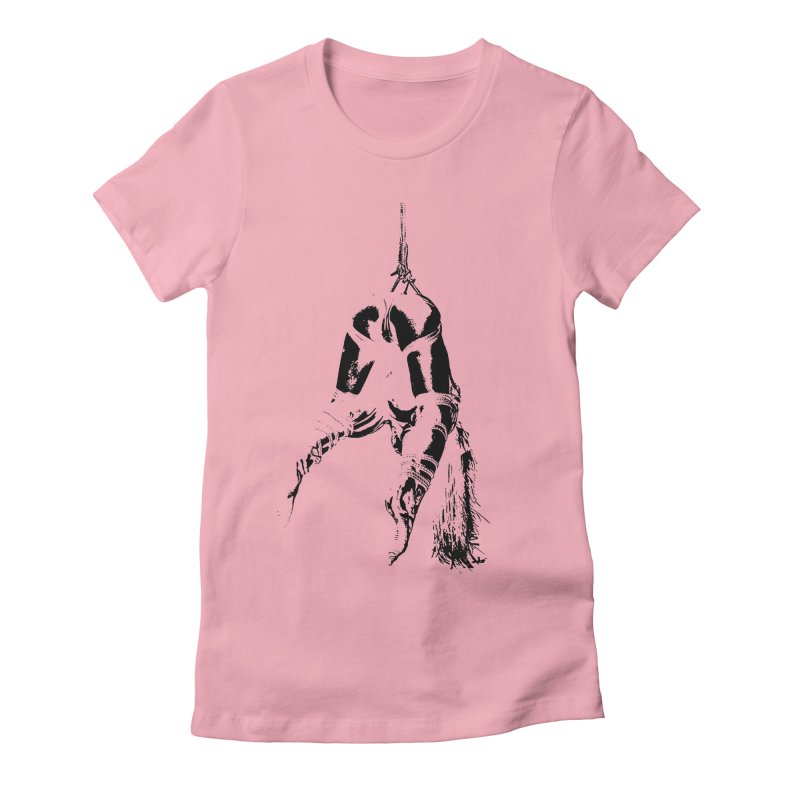 kinbaku crab suspension Women's Fitted T-Shirt by FredRx's Artist Shop