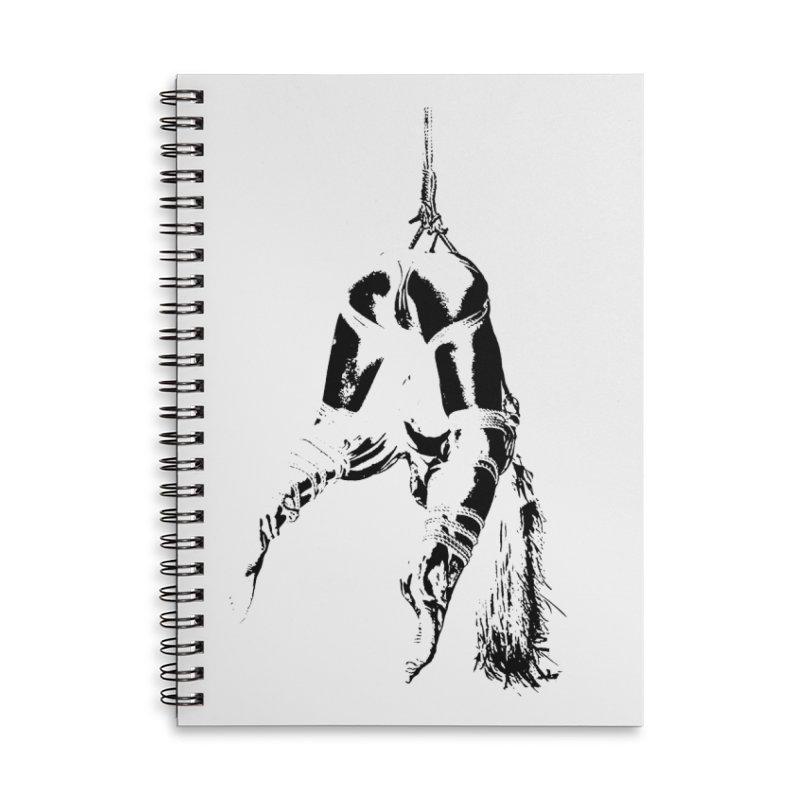 kinbaku crab suspension Accessories Lined Spiral Notebook by FredRx's Artist Shop