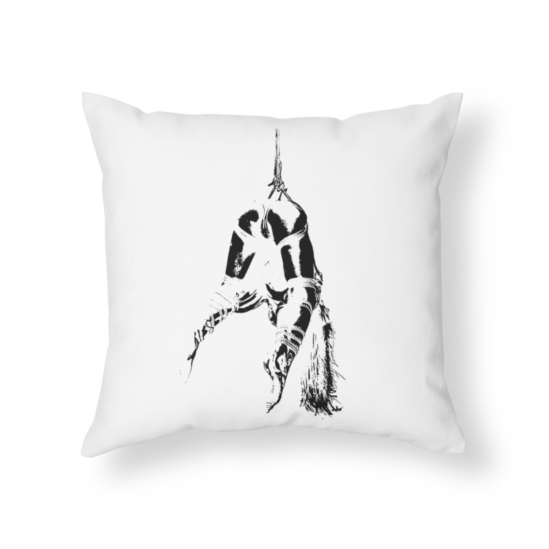 kinbaku crab suspension Home Throw Pillow by FredRx's Artist Shop