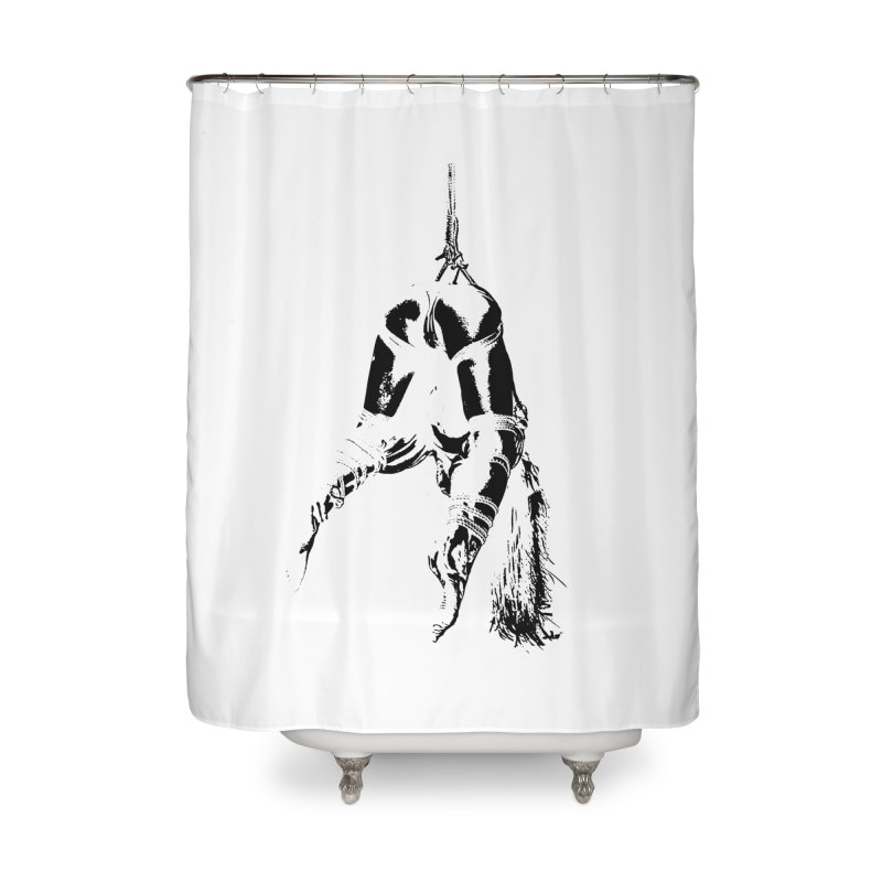 kinbaku crab suspension Home Shower Curtain by FredRx's Artist Shop