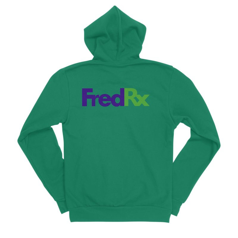 FredRx logo Men's Sponge Fleece Zip-Up Hoody by FredRx's Artist Shop
