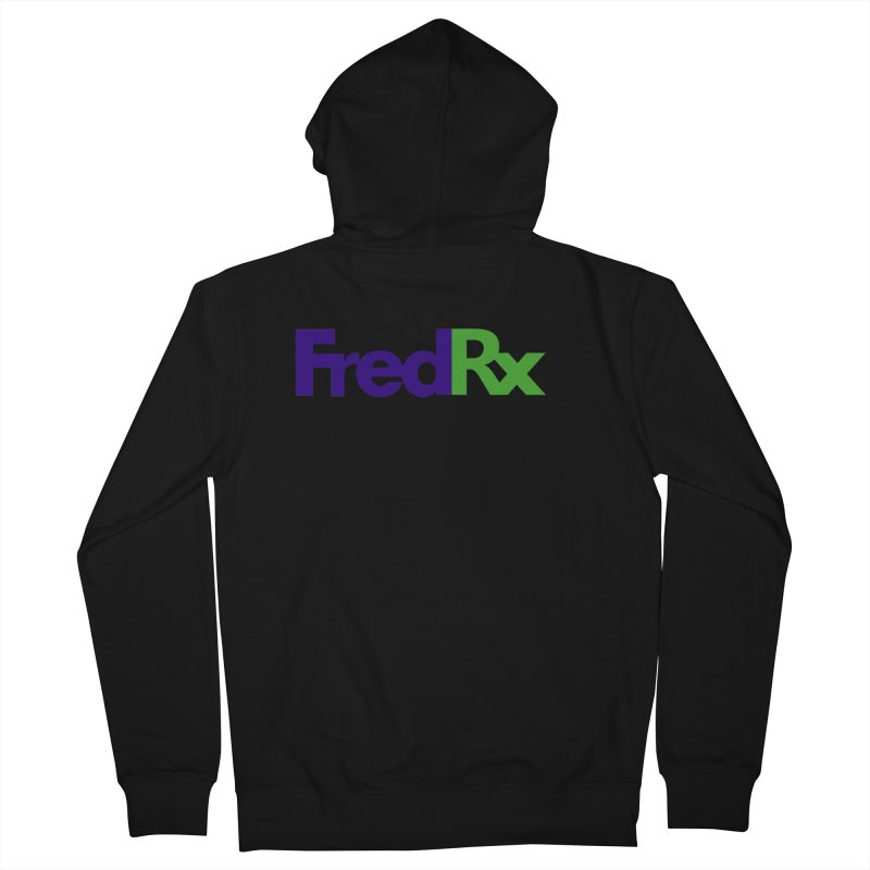 FredRx logo Men's French Terry Zip-Up Hoody by FredRx's Artist Shop