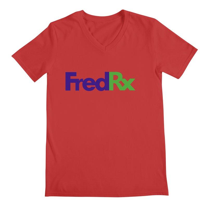 FredRx logo Men's Regular V-Neck by FredRx's Artist Shop