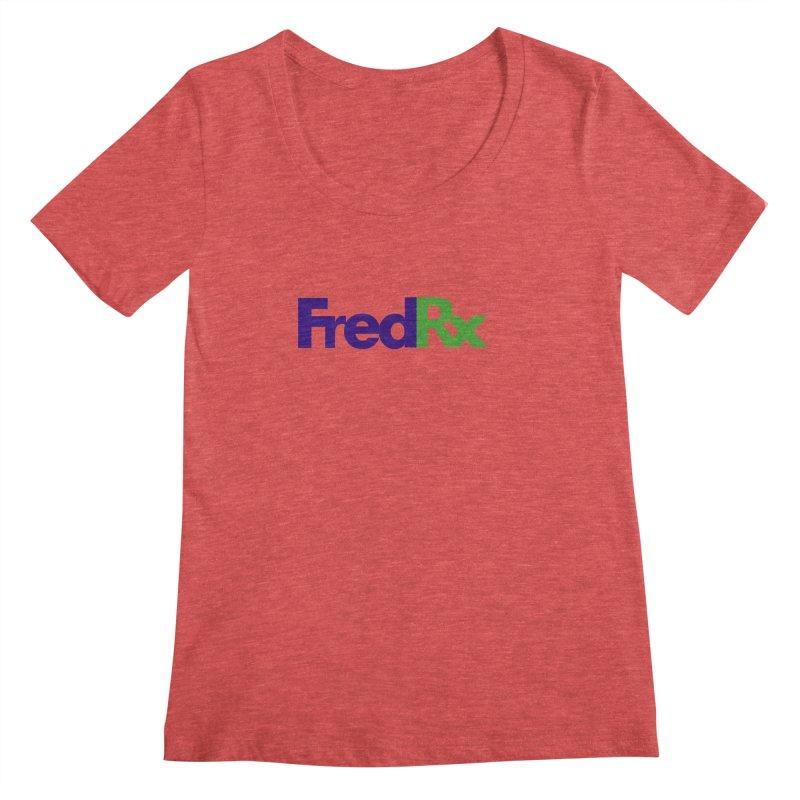 FredRx logo Women's Scoopneck by FredRx's Artist Shop