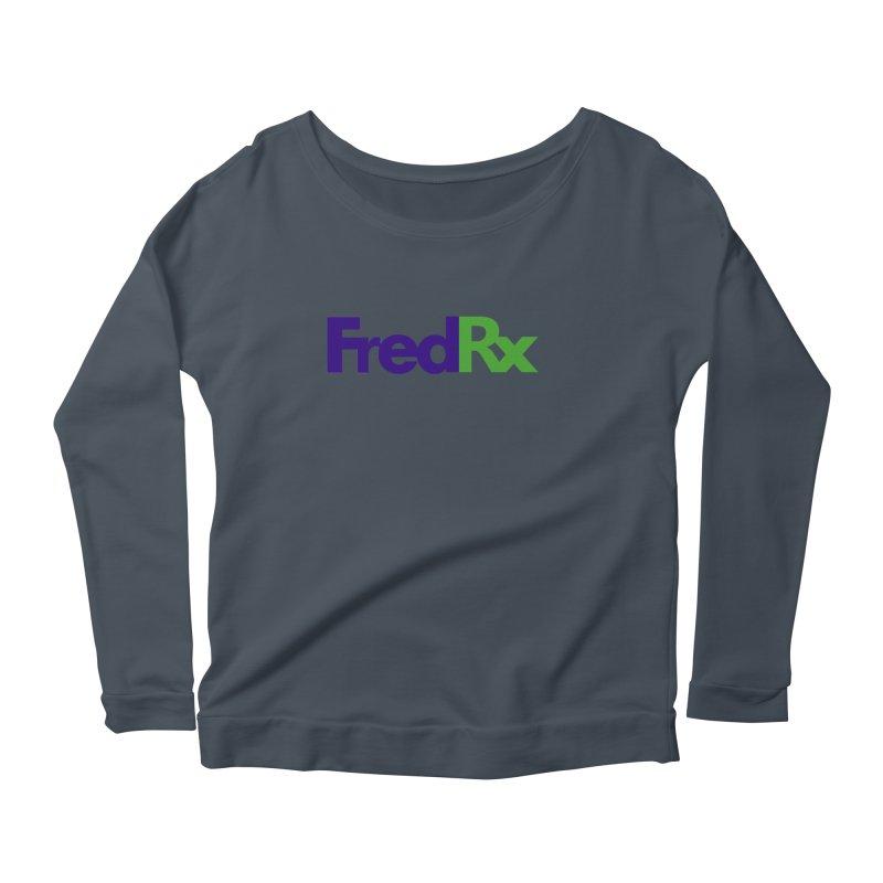 FredRx logo Women's Scoop Neck Longsleeve T-Shirt by FredRx's Artist Shop