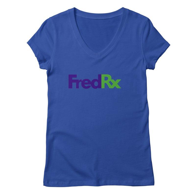 FredRx logo Women's Regular V-Neck by FredRx's Artist Shop