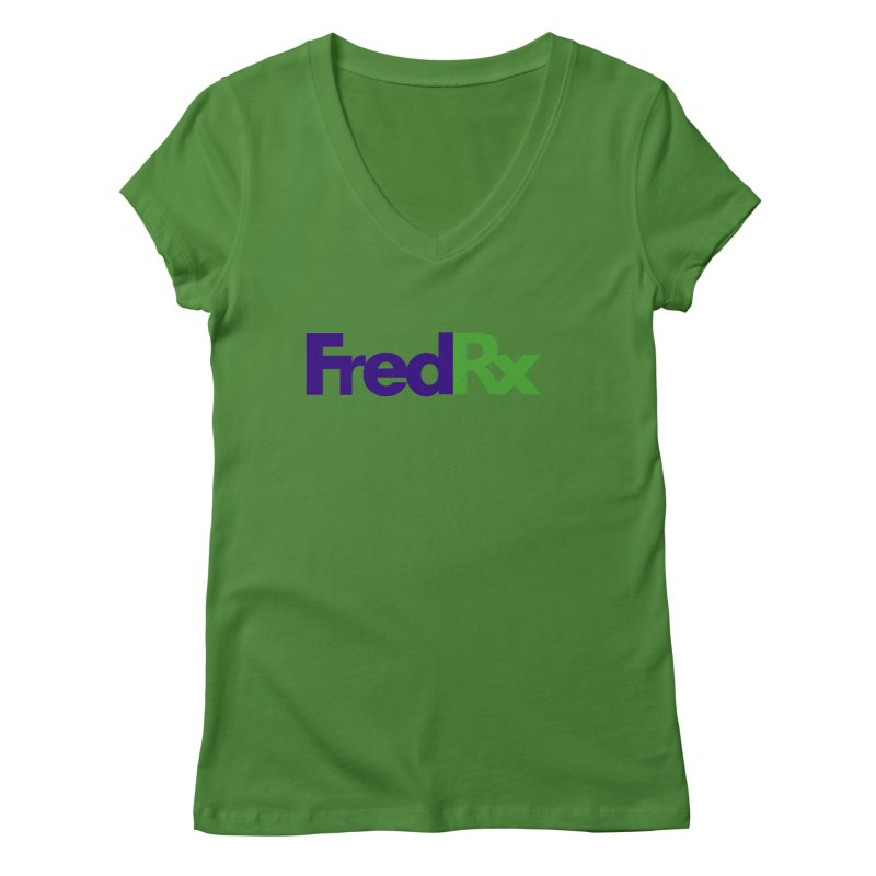 FredRx logo Women's Regular V-Neck by FredRx's Artist Shop