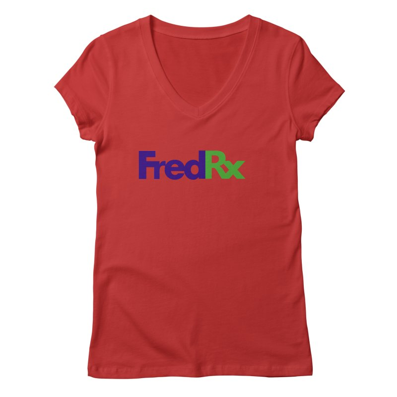 FredRx logo Women's V-Neck by FredRx's Artist Shop