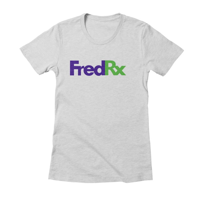 FredRx logo Women's Fitted T-Shirt by FredRx's Artist Shop