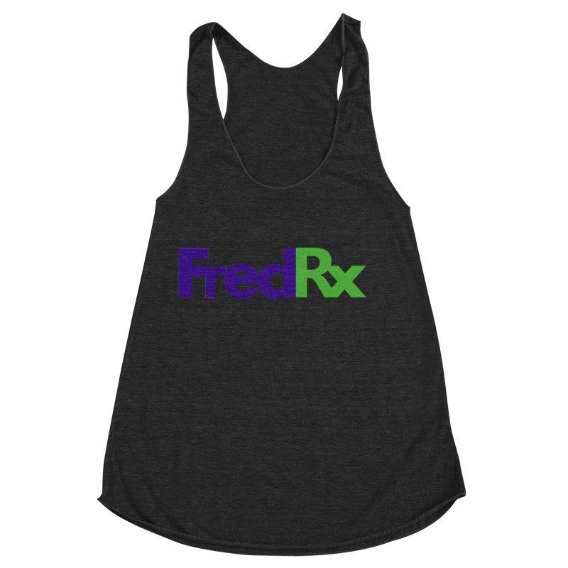 FredRx logo Women's Racerback Triblend Tank by FredRx's Artist Shop