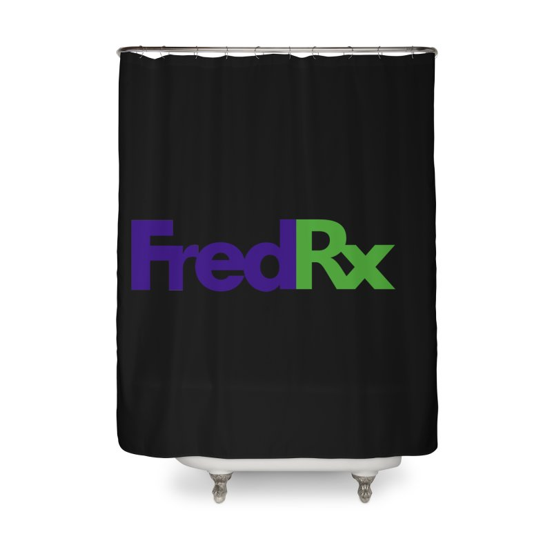 FredRx logo Home Shower Curtain by FredRx's Artist Shop