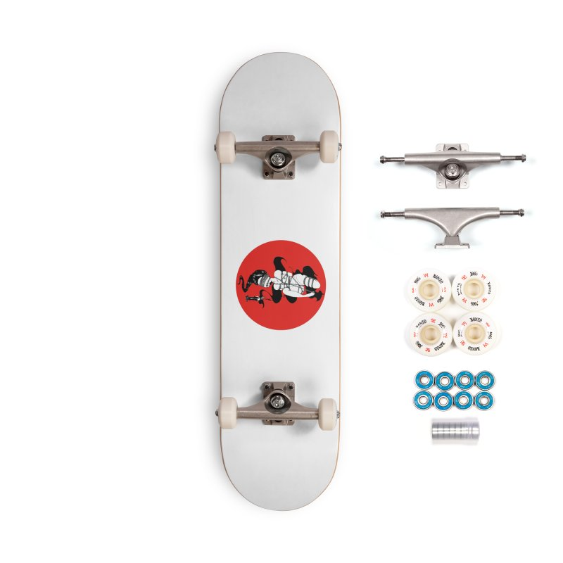human with red Accessories Skateboard by FredRx's Artist Shop