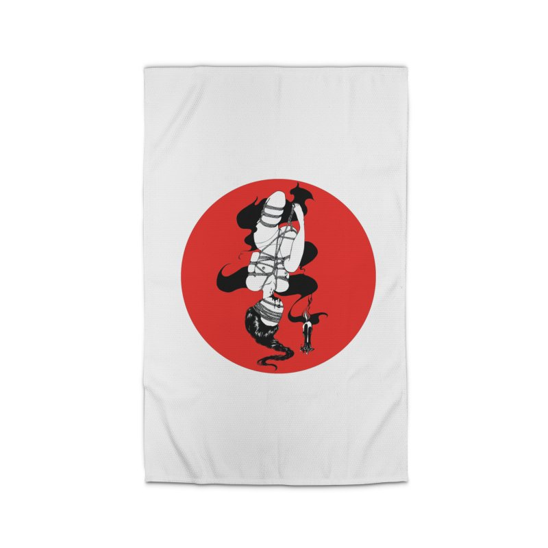 human with red Home Rug by FredRx's Artist Shop