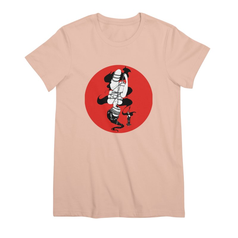 human with red Women's Premium T-Shirt by FredRx's Artist Shop