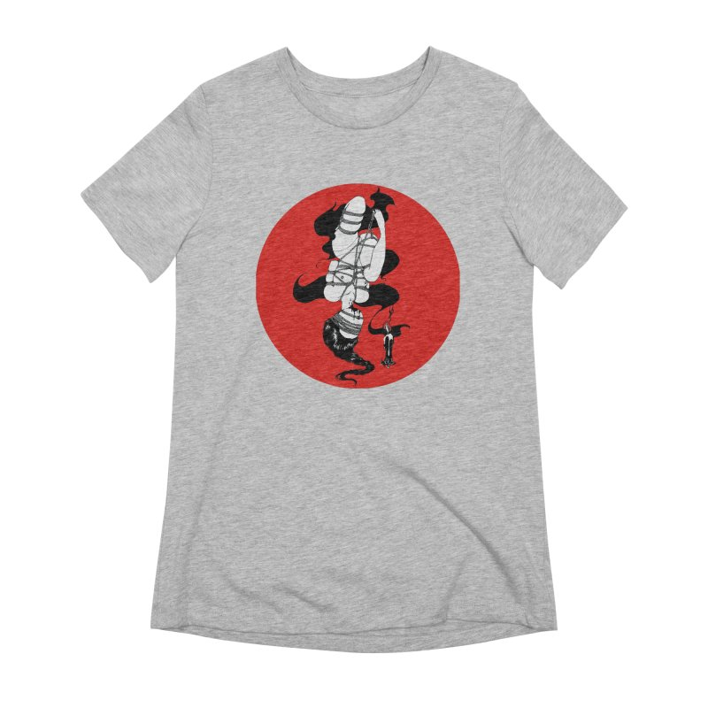 human with red Women's Extra Soft T-Shirt by FredRx's Artist Shop