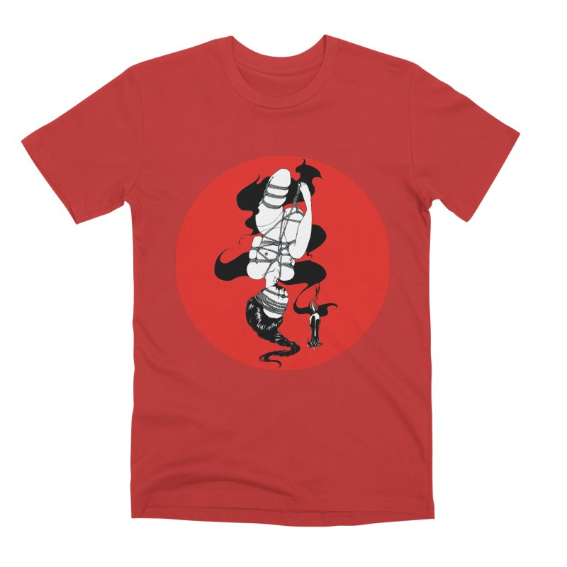 human with red Men's Premium T-Shirt by FredRx's Artist Shop