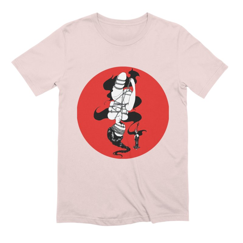 human with red Men's Extra Soft T-Shirt by FredRx's Artist Shop