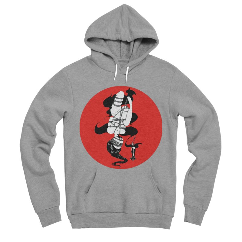 human with red Women's Sponge Fleece Pullover Hoody by FredRx's Artist Shop