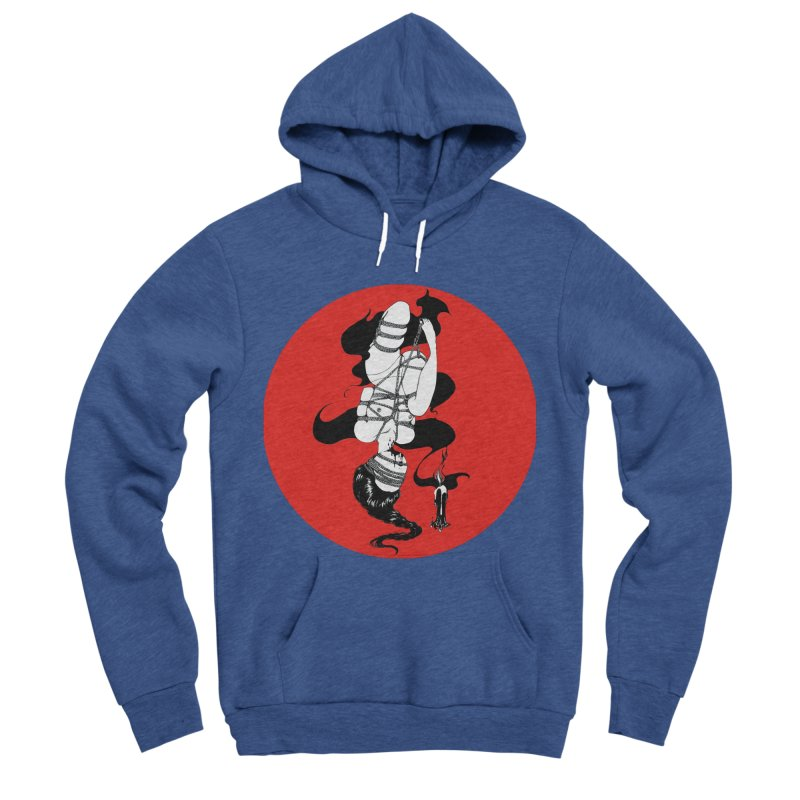 human with red Men's Sponge Fleece Pullover Hoody by FredRx's Artist Shop