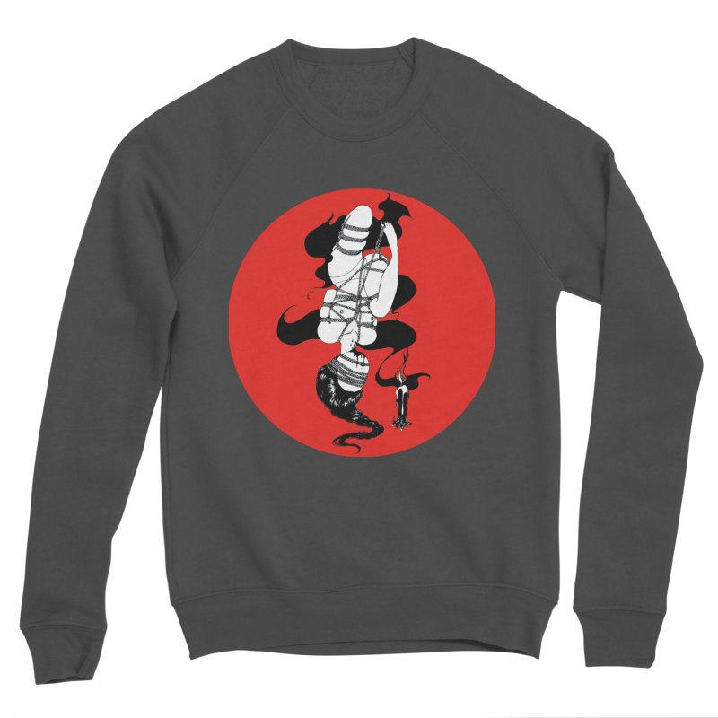 human with red Women's Sponge Fleece Sweatshirt by FredRx's Artist Shop