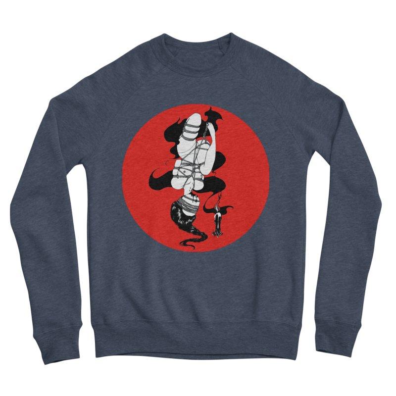 human with red Women's Sponge Fleece Sweatshirt by FredRx's Artist Shop