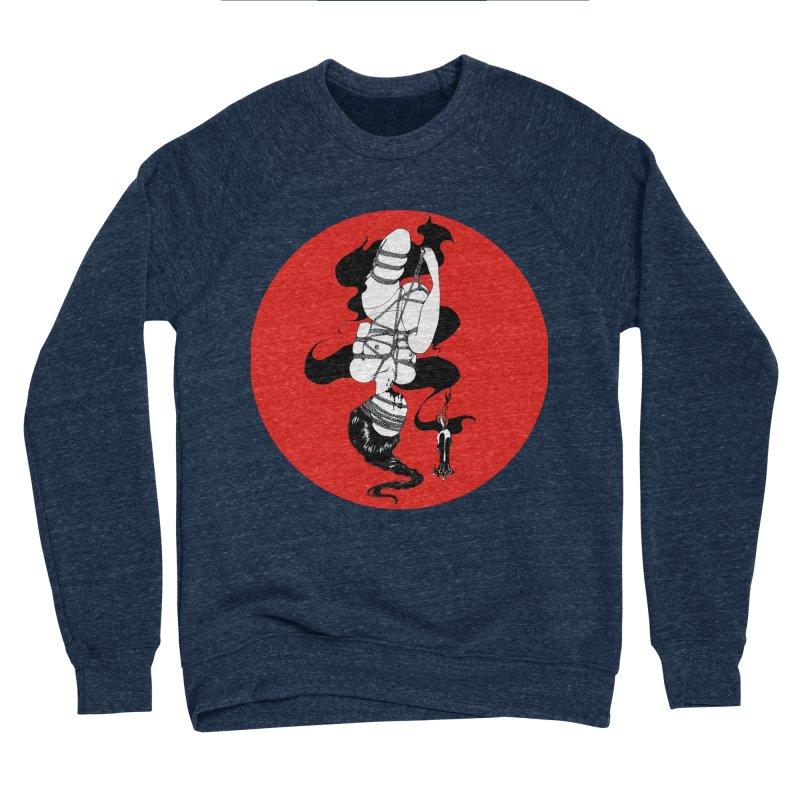 human with red Men's Sponge Fleece Sweatshirt by FredRx's Artist Shop
