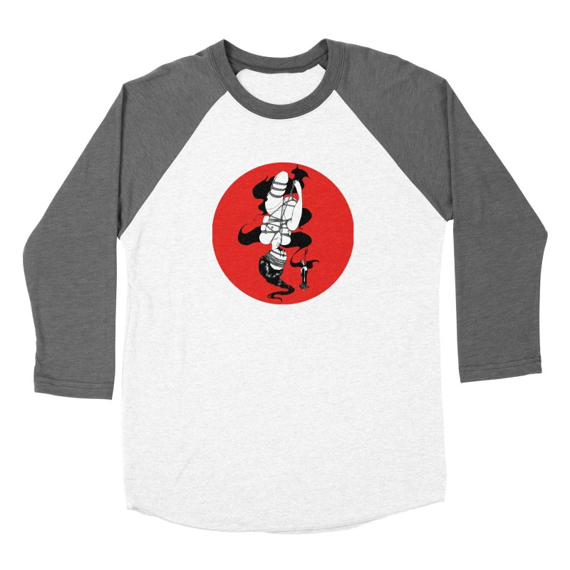 human with red Women's Longsleeve T-Shirt by FredRx's Artist Shop