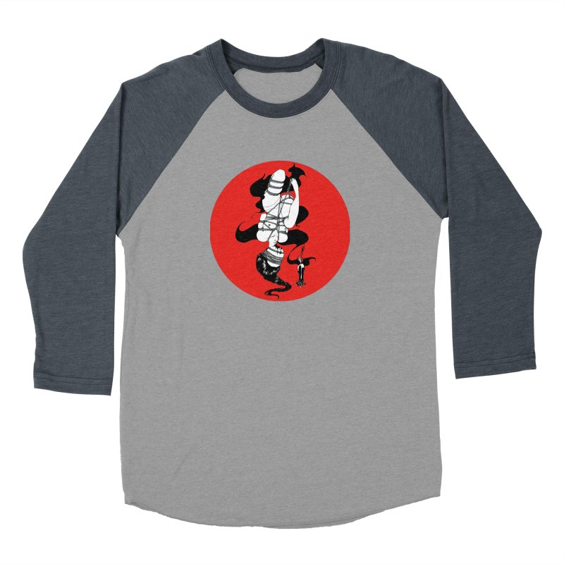 human with red Women's Baseball Triblend Longsleeve T-Shirt by FredRx's Artist Shop