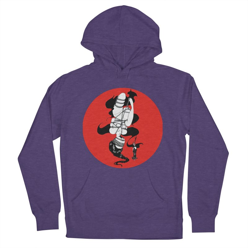 human with red Women's French Terry Pullover Hoody by FredRx's Artist Shop