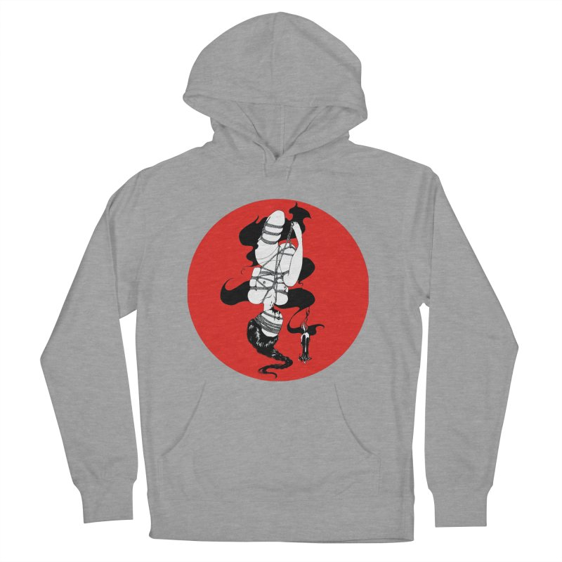 human with red Women's Pullover Hoody by FredRx's Artist Shop