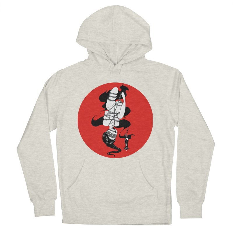 human with red Men's French Terry Pullover Hoody by FredRx's Artist Shop