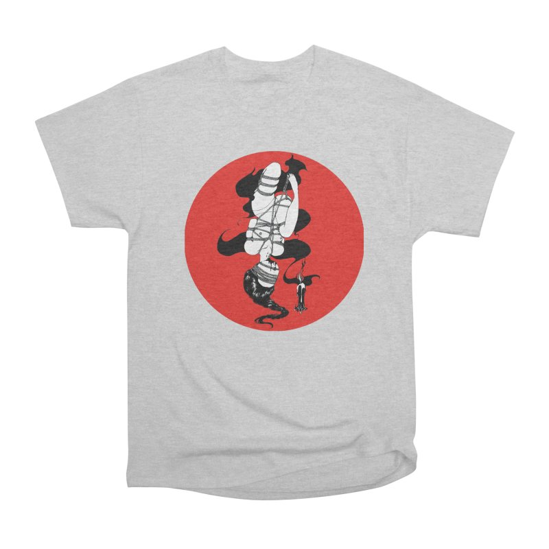 human with red Women's Heavyweight Unisex T-Shirt by FredRx's Artist Shop