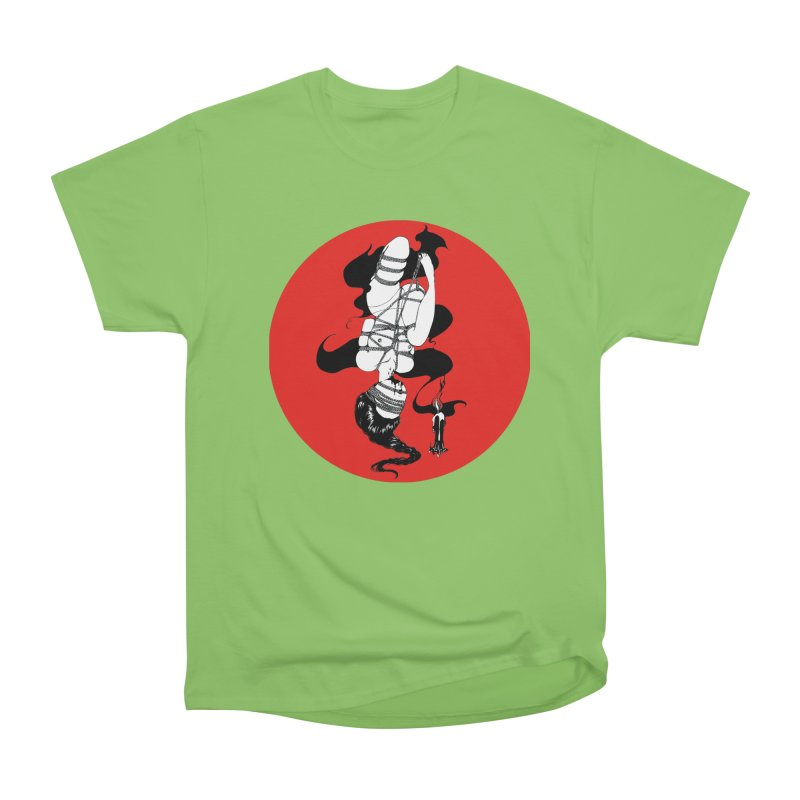 human with red Men's Heavyweight T-Shirt by FredRx's Artist Shop