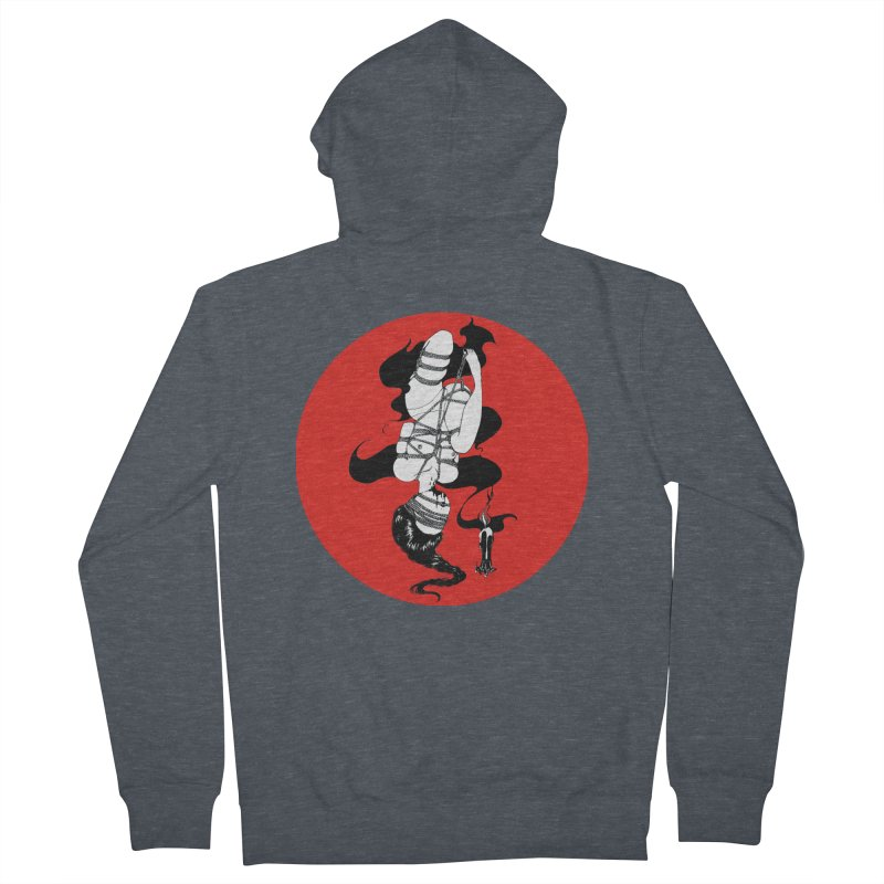 human with red Men's Zip-Up Hoody by FredRx's Artist Shop