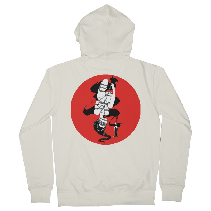 human with red Men's French Terry Zip-Up Hoody by FredRx's Artist Shop