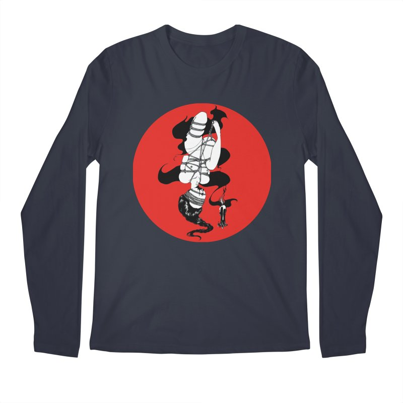 human with red Men's Longsleeve T-Shirt by FredRx's Artist Shop