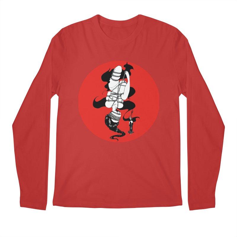 human with red Men's Regular Longsleeve T-Shirt by FredRx's Artist Shop
