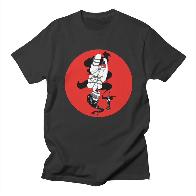 human with red Men's Regular T-Shirt by FredRx's Artist Shop