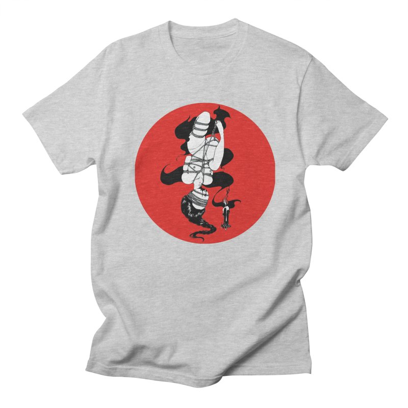 human with red Men's T-Shirt by FredRx's Artist Shop