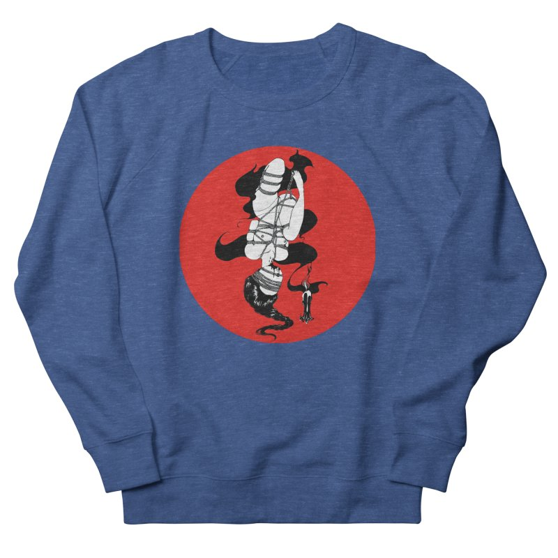human with red Women's French Terry Sweatshirt by FredRx's Artist Shop
