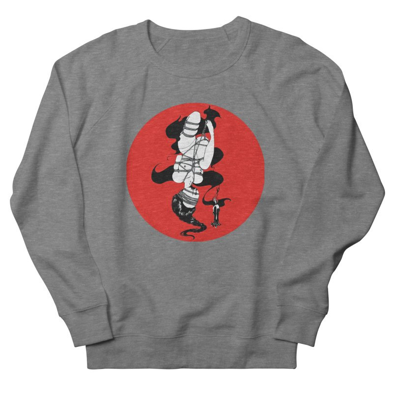 human with red Men's French Terry Sweatshirt by FredRx's Artist Shop