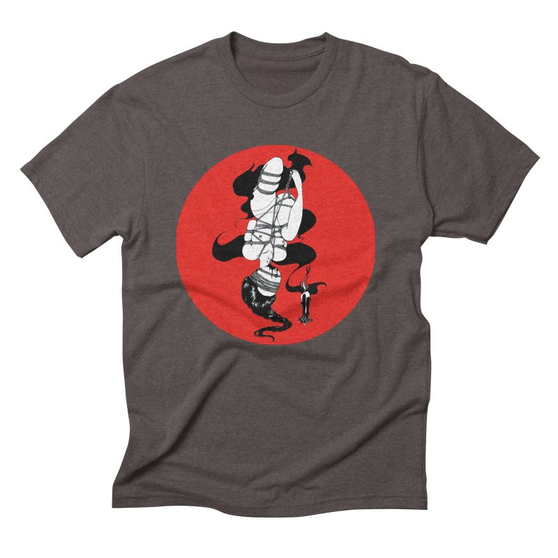 human with red Men's Triblend T-Shirt by FredRx's Artist Shop